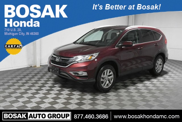 Used Red Red 2016 Honda CR-V EX-L 4D Sport Utility 5J6RM4H75GL019196 C3778P 2.4L I4 DOHC 16V i-VTEC CVT SUVs Heated Seats; Leather Seats; Sunroof / Moonroof; Fog Lights; Power Seats